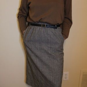 Vintage 80's Plaid Midi Skirt